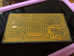 Etching the main PCB