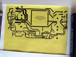 Main board PCB pattern printed out